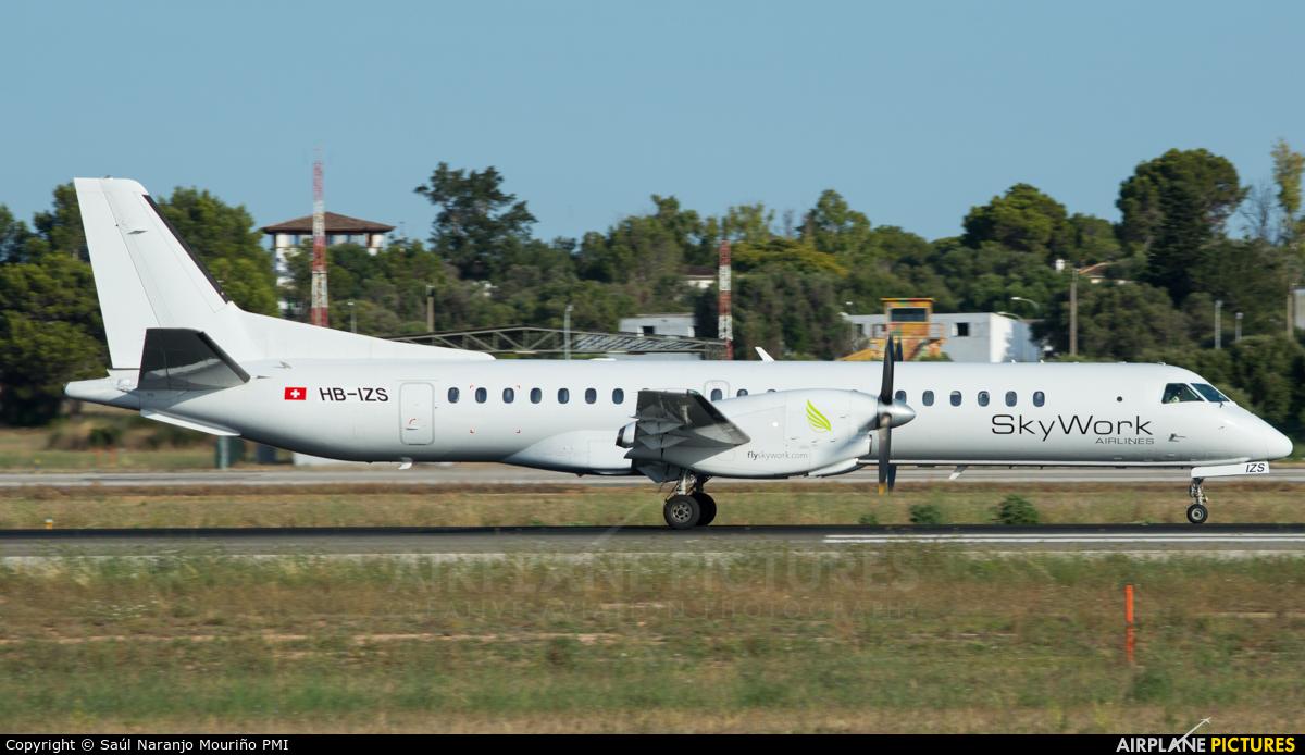 Sky Work Airlines HB-IZS aircraft at Palma de Mallorca
