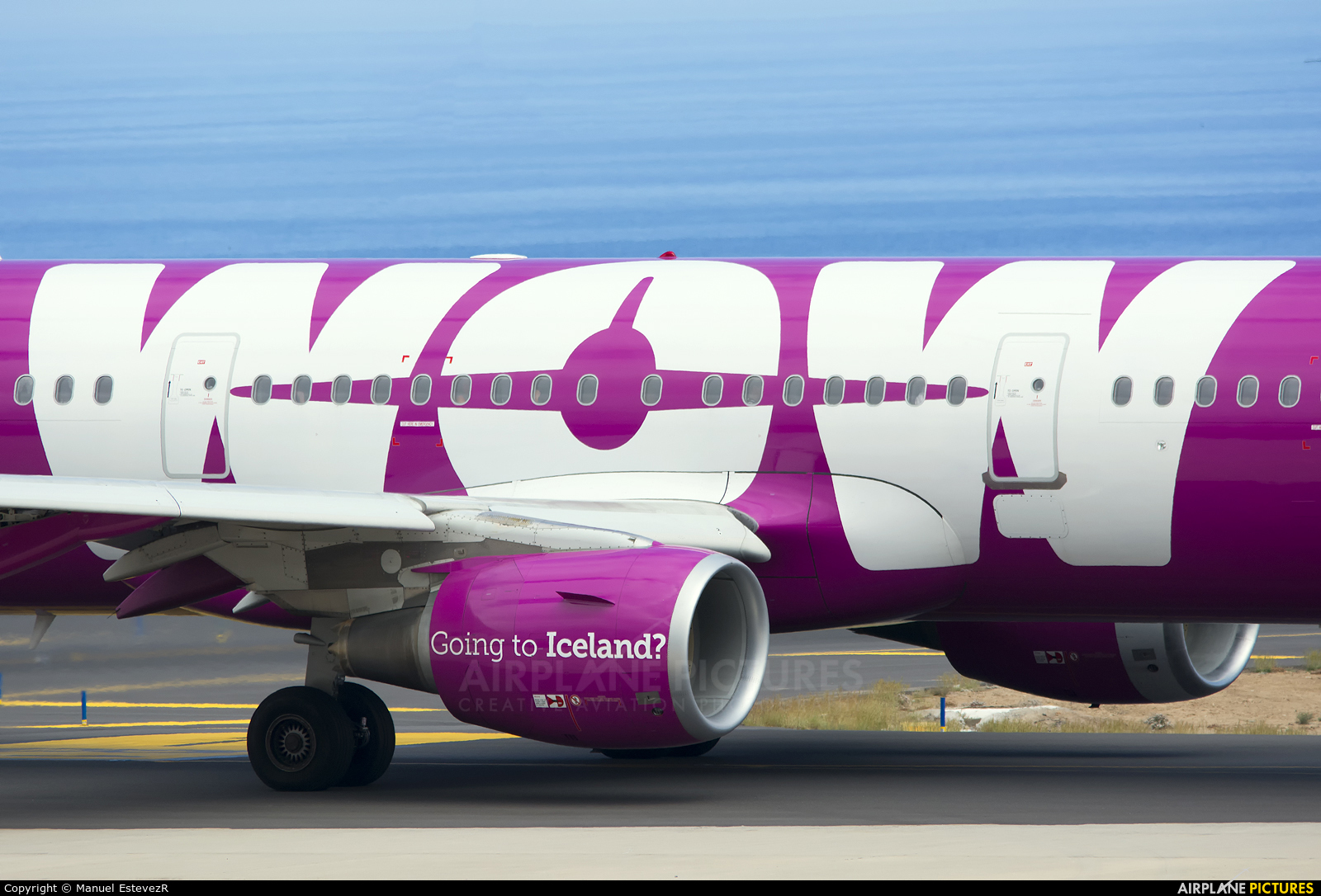 WOW Air TF-SON aircraft at Tenerife Sur - Reina Sofia
