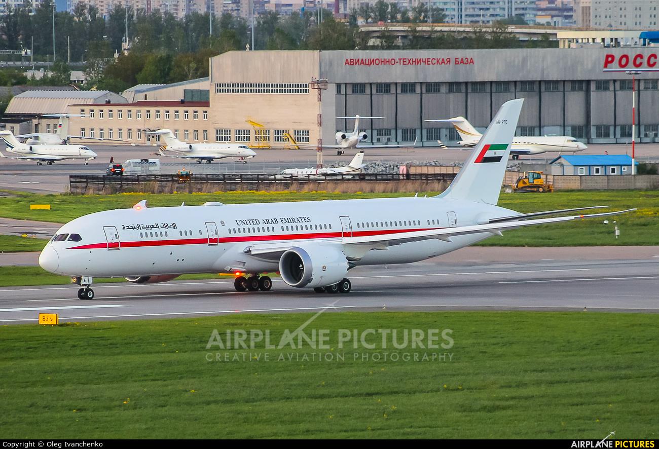Qatar Amiri Flight A6-PFE aircraft at St. Petersburg - Pulkovo