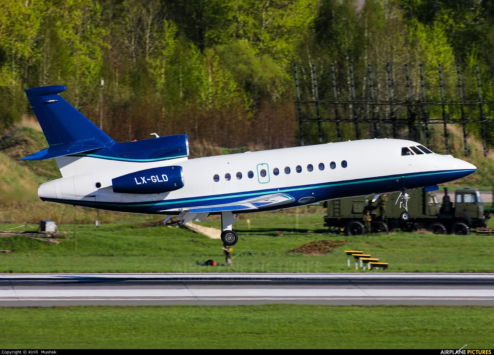 Private LX-GLD aircraft at Bolshoe Savino - Perm