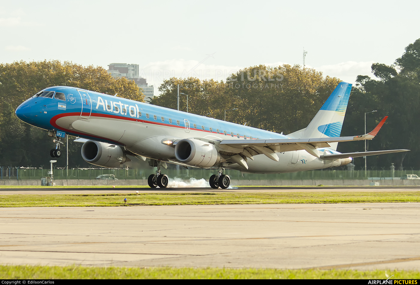 Austral Lineas Aereas LV-CPJ aircraft at Buenos Aires - Jorge Newbery