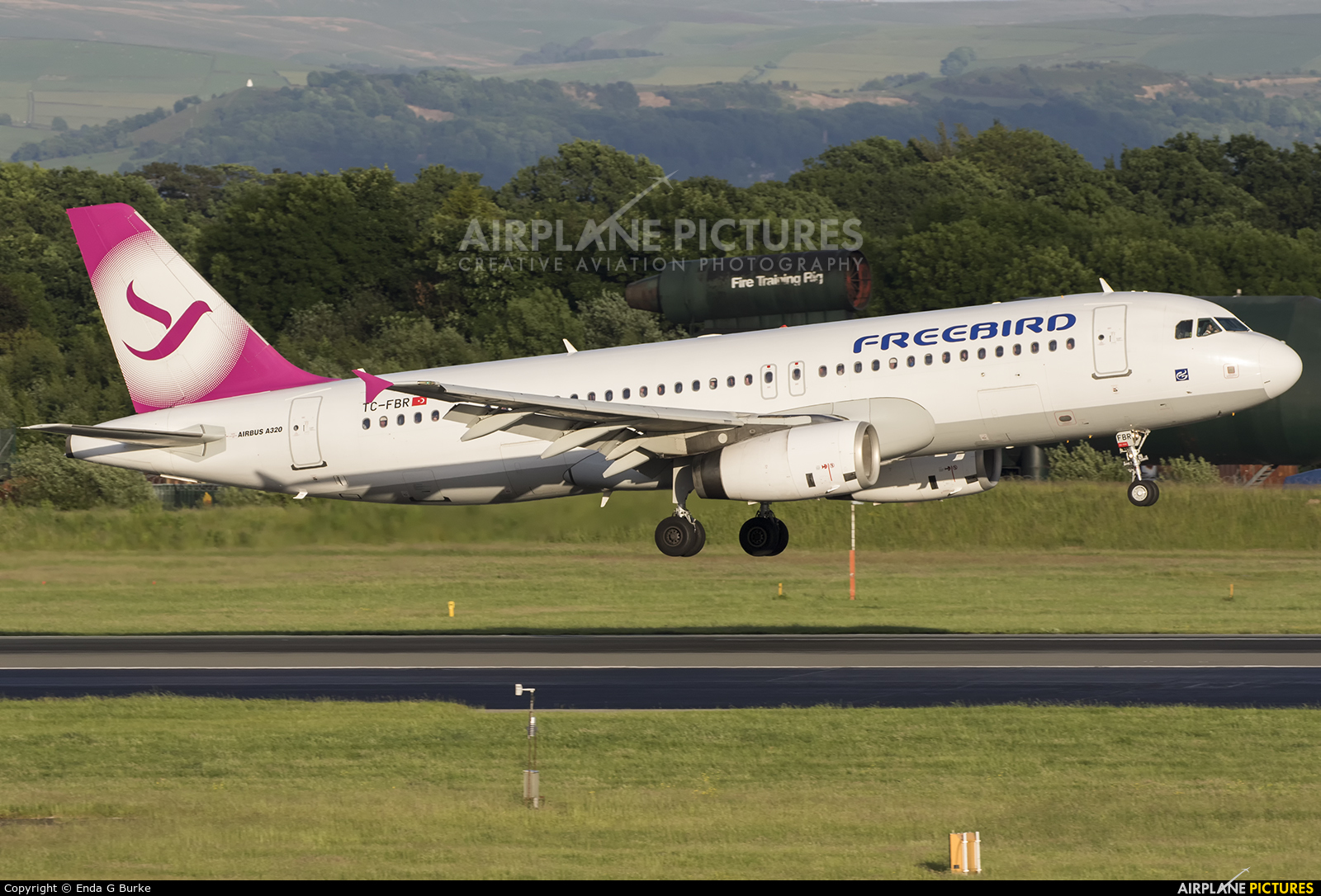 FreeBird Airlines TC-FBR aircraft at Manchester