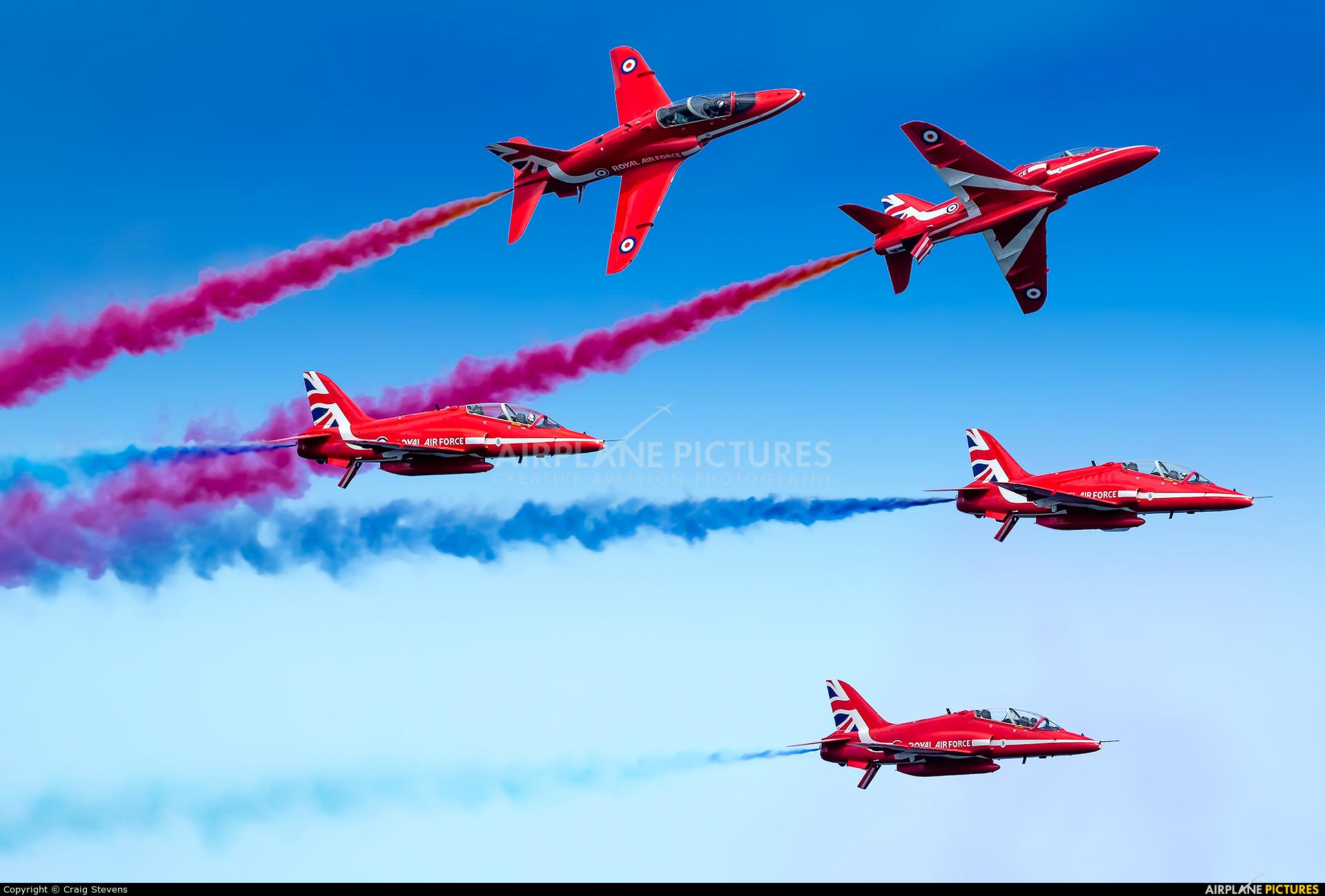 """Royal Air Force """"Red Arrows"""" XX242 aircraft at Paignton"""