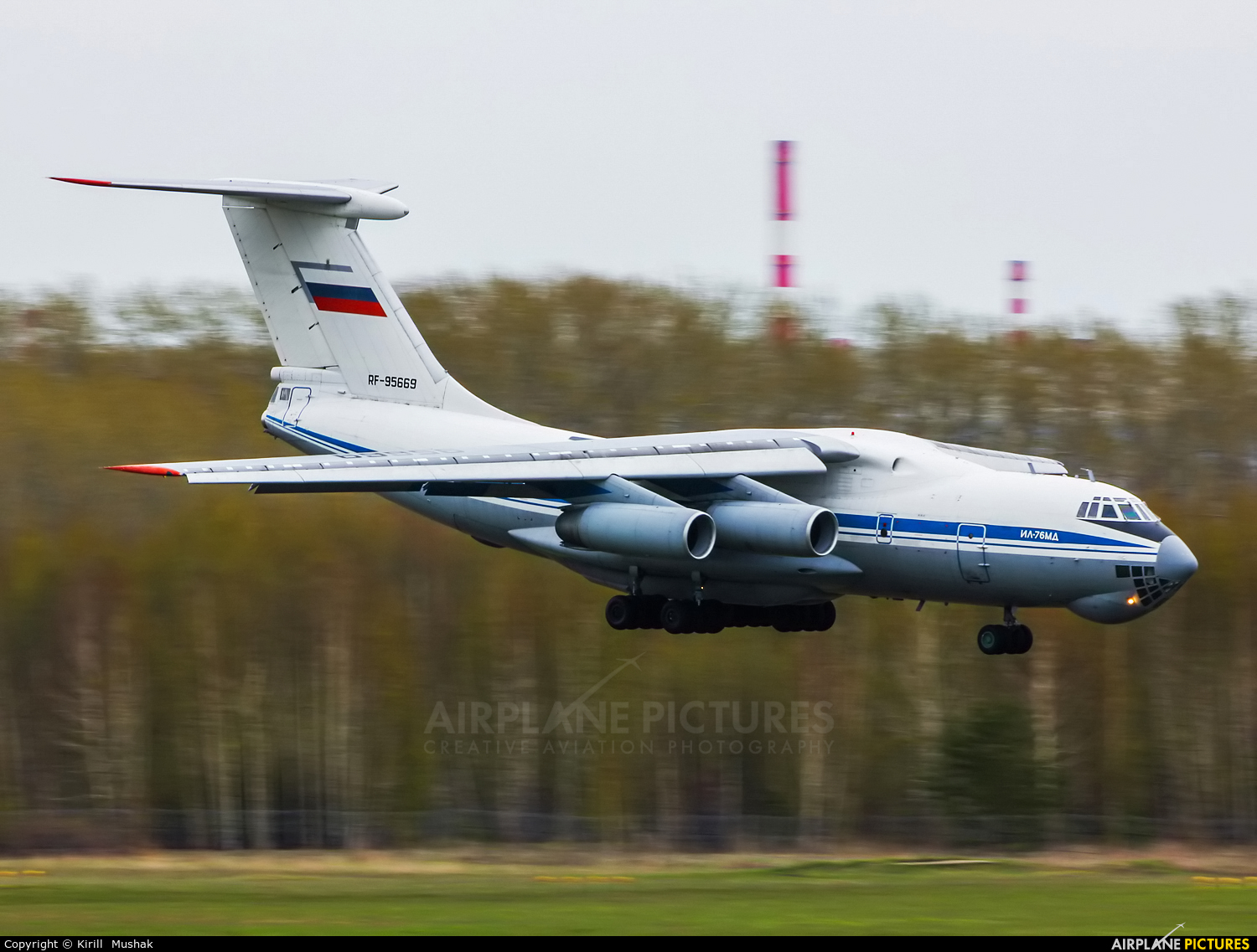 Russia - Air Force RF-95669 aircraft at Bolshoe Savino - Perm