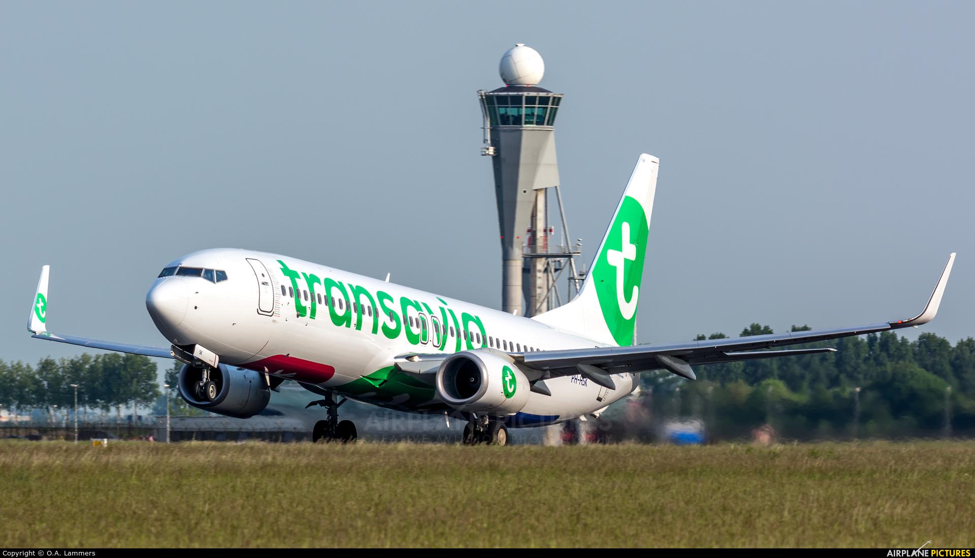 Transavia PH-HSK aircraft at Amsterdam - Schiphol