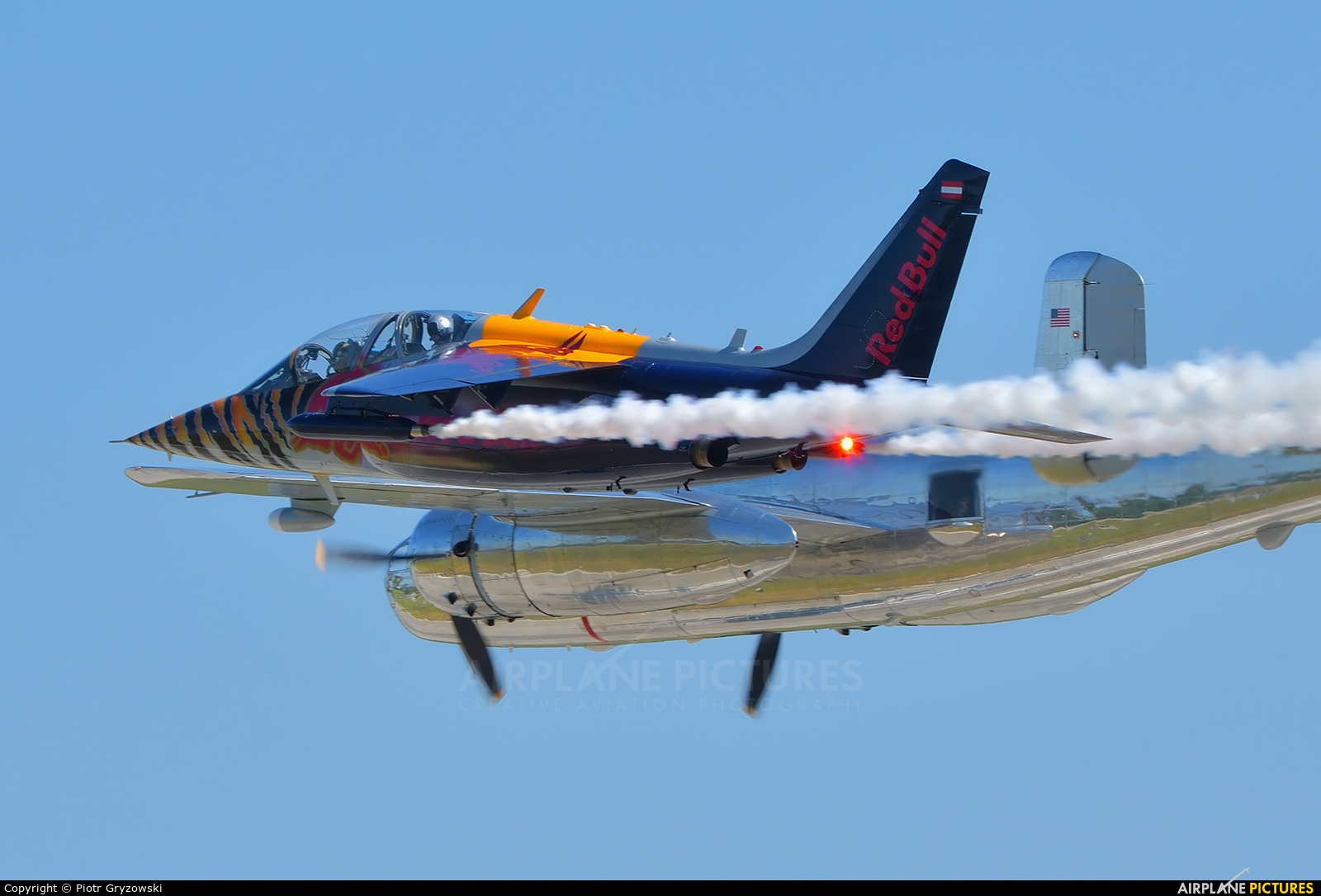 Red Bull OE-FAS aircraft at Pardubice