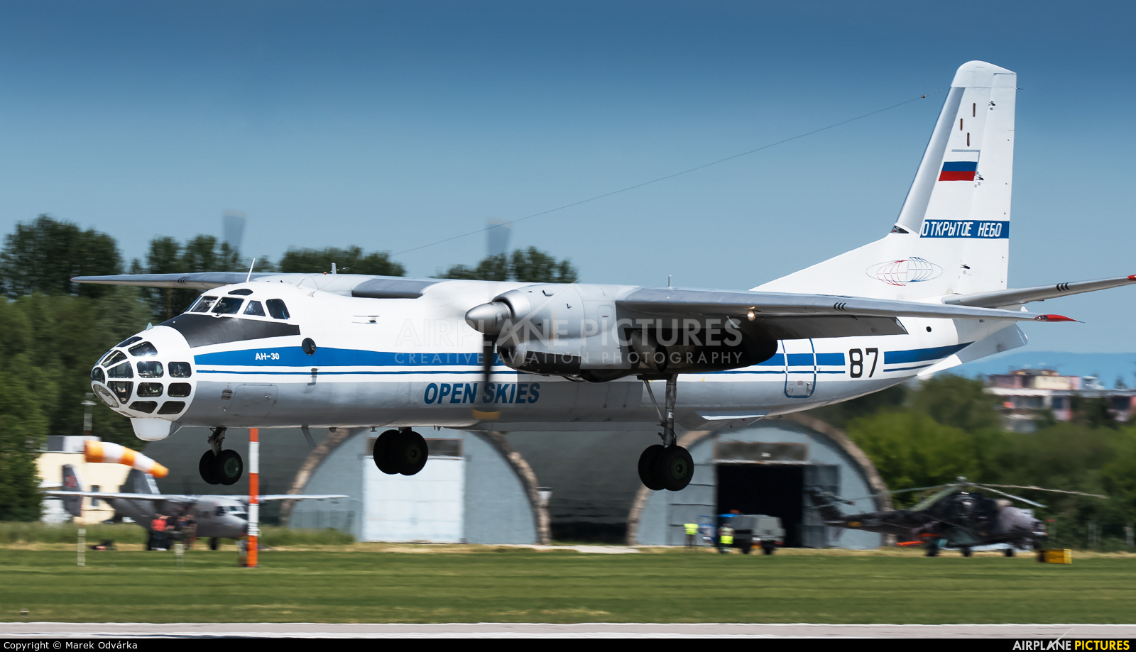 Russia - Air Force 87 aircraft at Pardubice