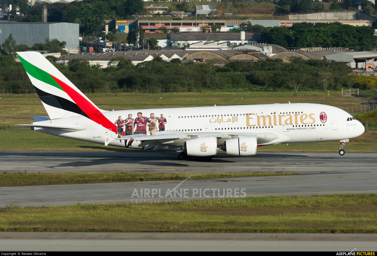Emirates Airlines A6-EOG aircraft at São Paulo - Guarulhos