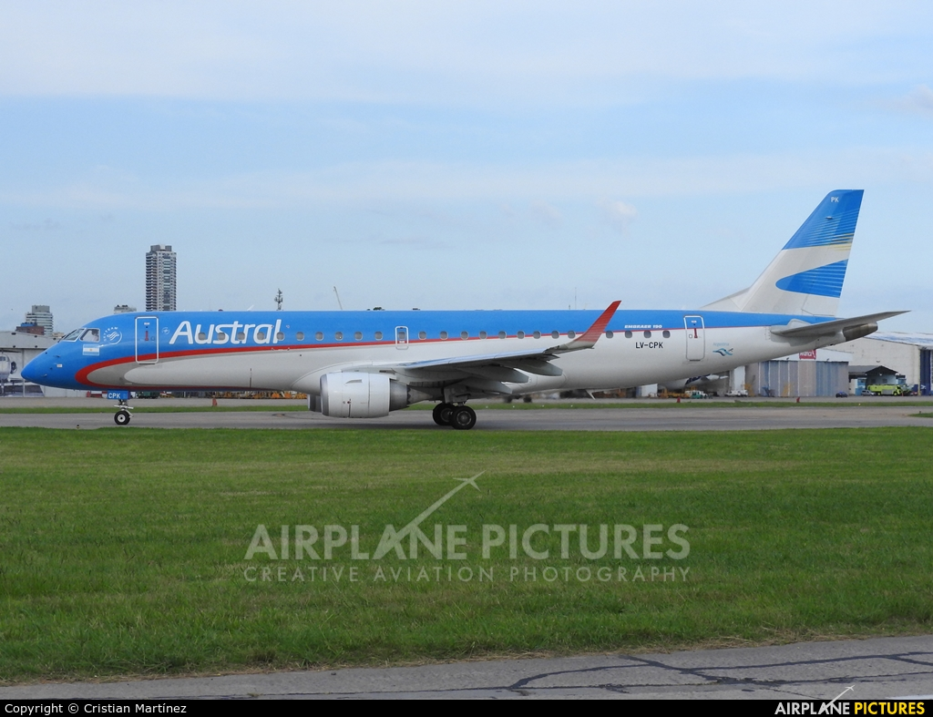 Austral Lineas Aereas LV-CPK aircraft at Buenos Aires - Jorge Newbery