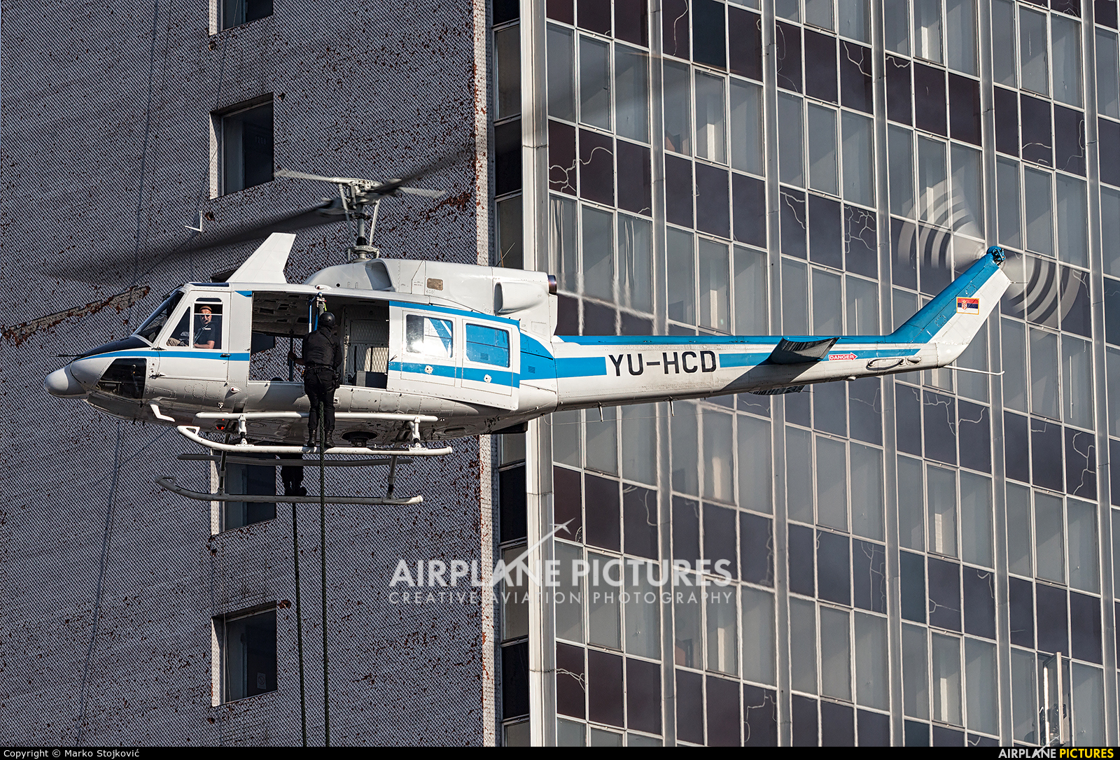 Serbia - Police YU-HCD aircraft at In Flight - Serbia