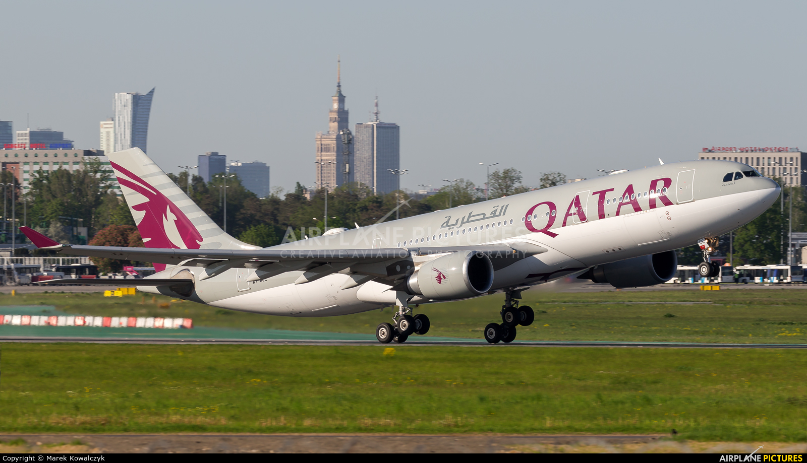 Qatar Airways A7-ACE aircraft at Warsaw - Frederic Chopin