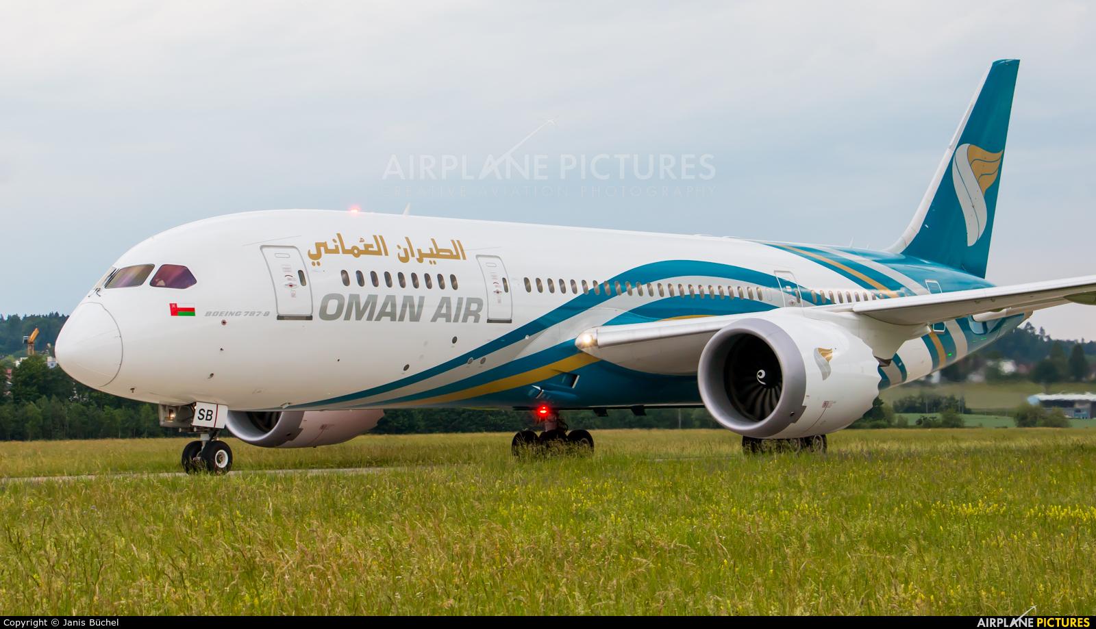 Oman Air A4O-SB aircraft at Zurich