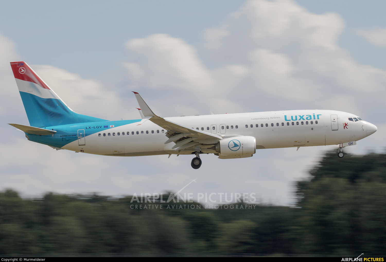 Luxair LX-LGV aircraft at Luxembourg - Findel