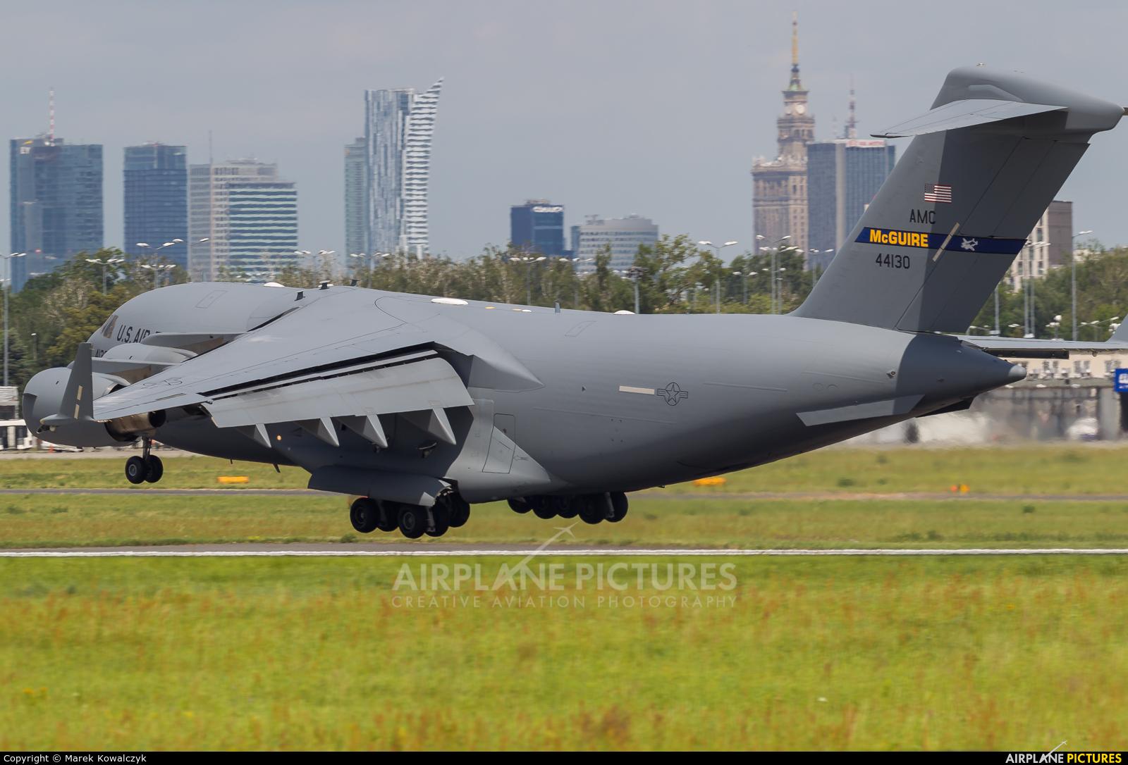 USA - Air Force 04-4130 aircraft at Warsaw - Frederic Chopin