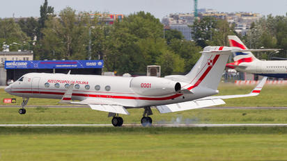 0001 - Poland - Government Gulfstream Aerospace G-V, G-V-SP, G500, G550