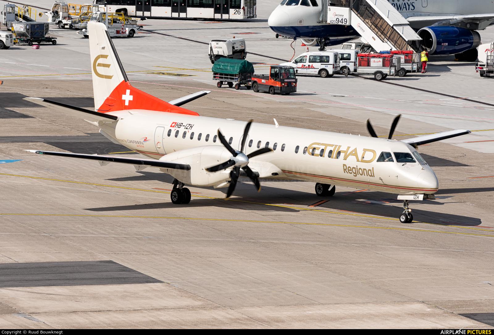Etihad Regional - Darwin Airlines HB-IZH aircraft at Düsseldorf