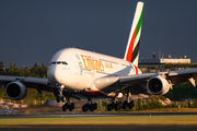A6-EEP - Emirates Airlines Airbus A380 aircraft