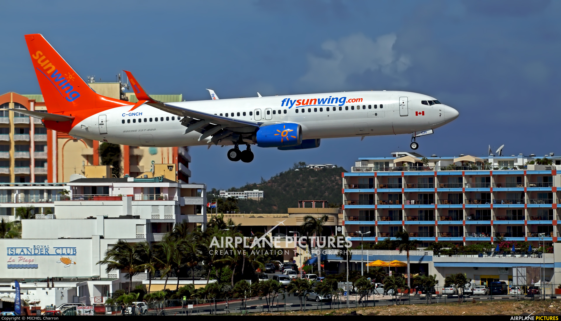 Sunwing Airlines C-GNCH aircraft at Sint Maarten - Princess Juliana Intl