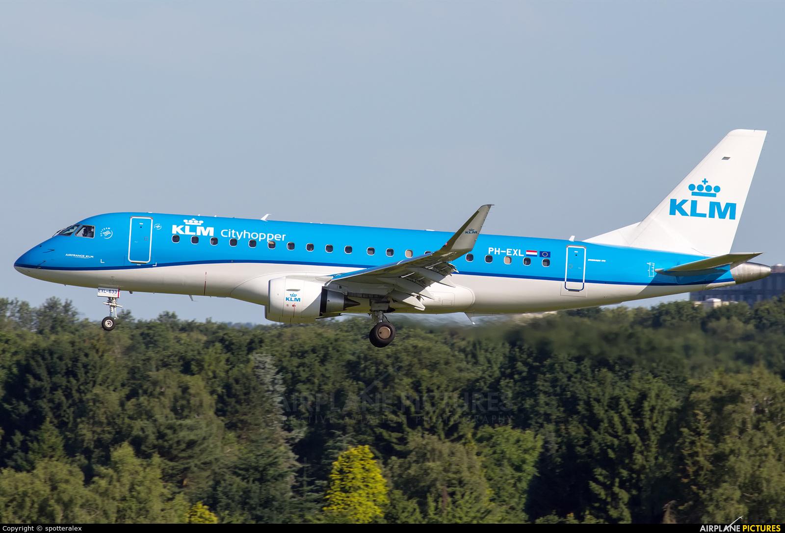 KLM Cityhopper PH-EXL aircraft at Hamburg - Fuhlsbüttel