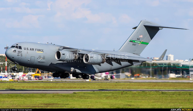 USA - Air Force 02-1107 aircraft at Warsaw - Frederic Chopin