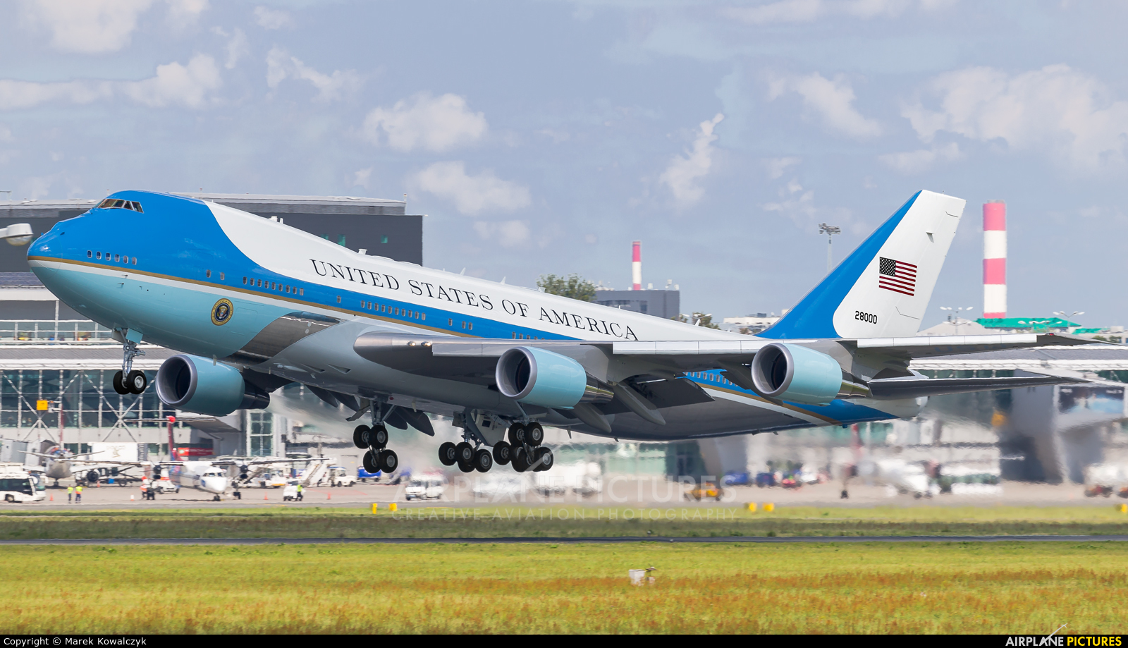 USA - Air Force 82-8000 aircraft at Warsaw - Frederic Chopin