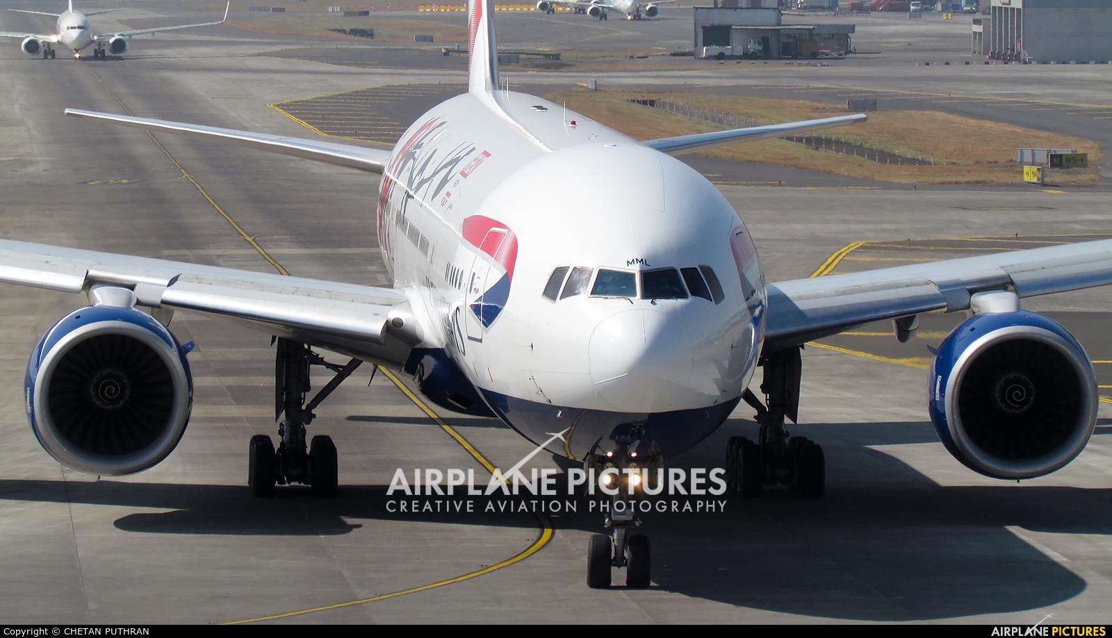 British Airways G-YMML aircraft at Mumbai - Chhatrapati Shivaji Intl
