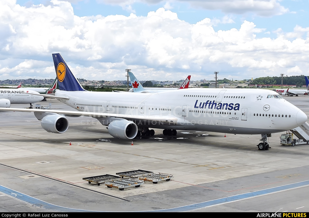 Lufthansa D-ABYQ aircraft at São Paulo - Guarulhos
