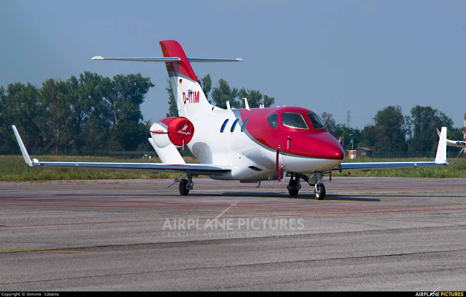 Private D-ITIM aircraft at Parma