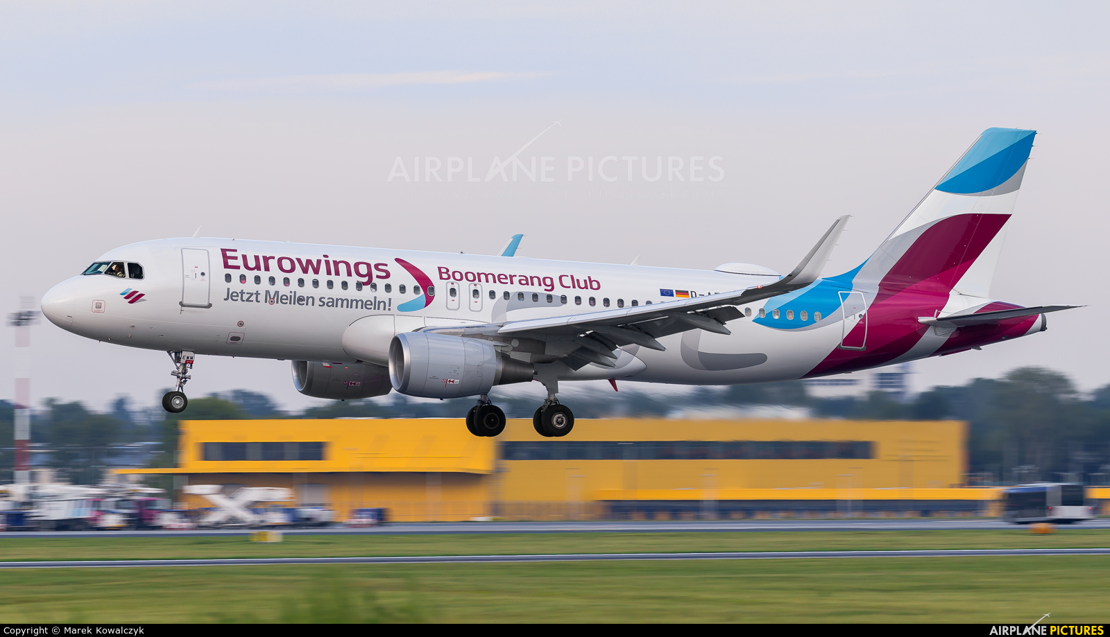 Eurowings D-AEWM aircraft at Warsaw - Frederic Chopin