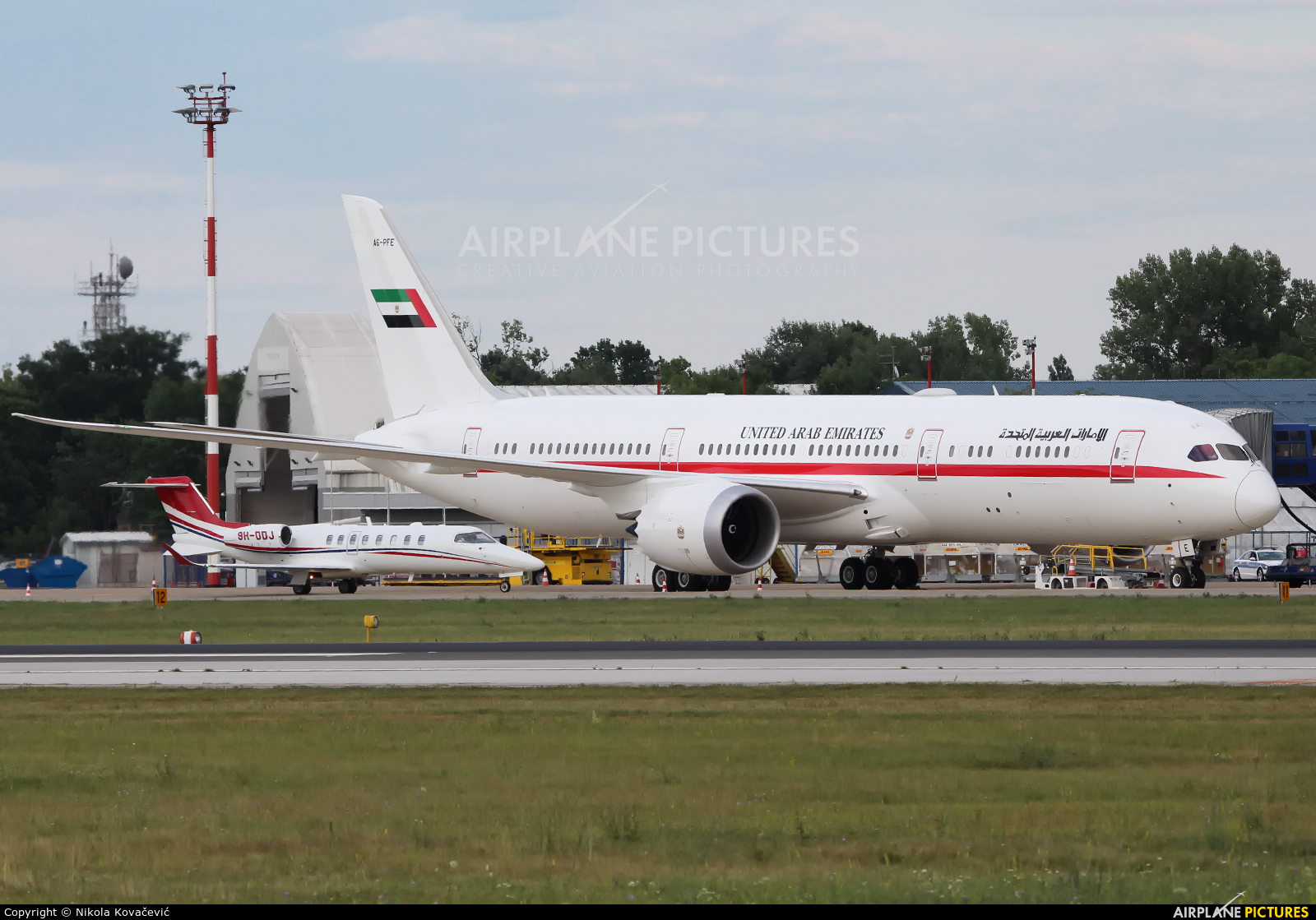 Abu Dhabi Amiri Flight A6-PFE aircraft at Zagreb