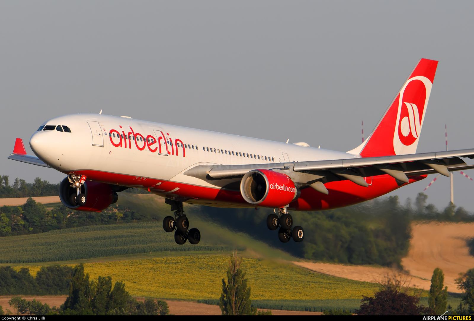 Air Berlin D-ABXB aircraft at Vienna - Schwechat