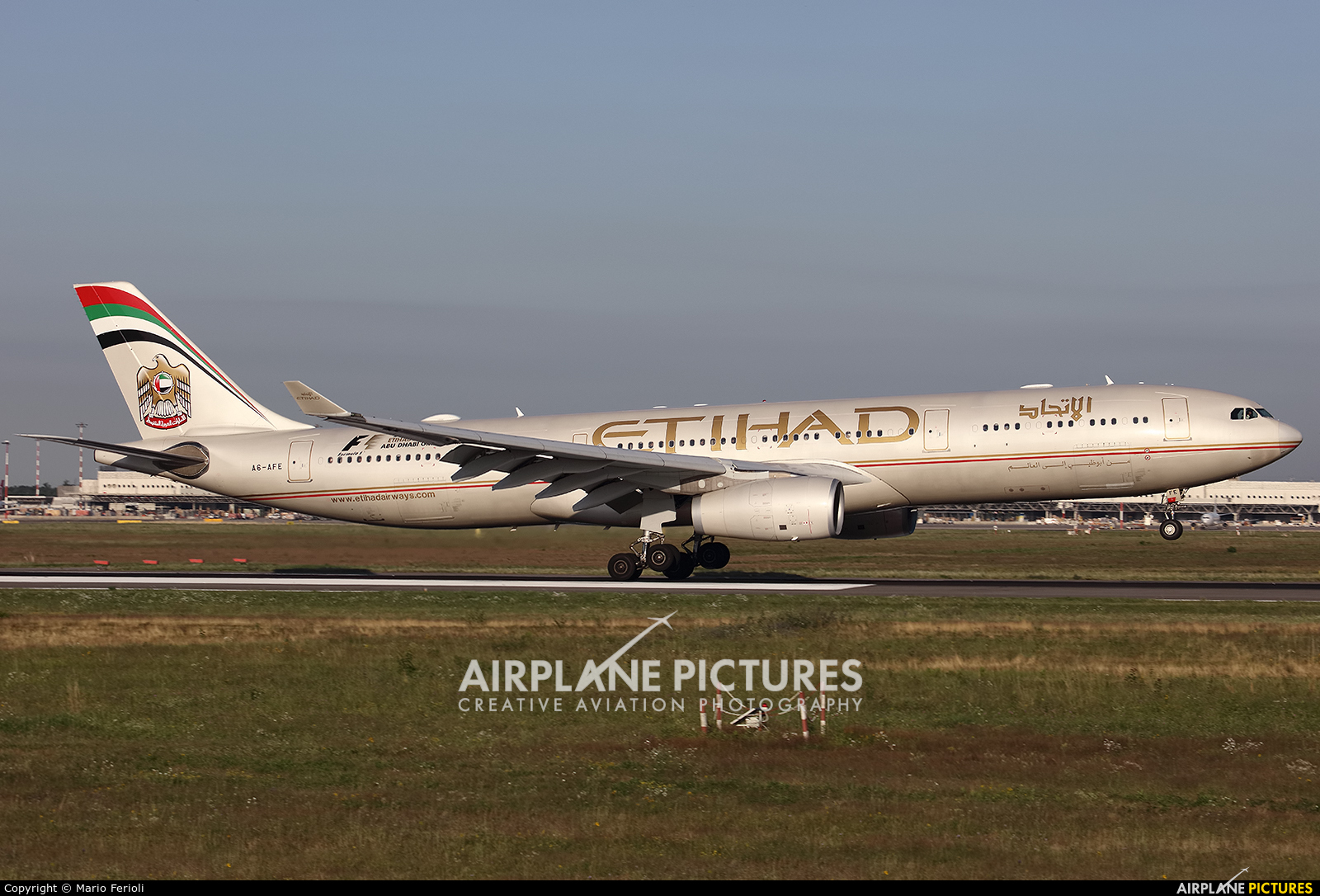 Etihad Airways A6-AFE aircraft at Milan - Malpensa