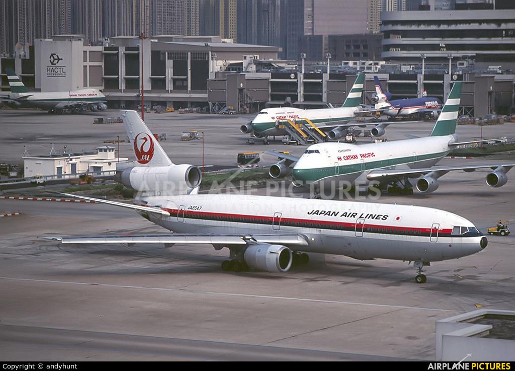 JAL - Japan Airlines JA8547 aircraft at HKG - Kai Tak Intl CLOSED