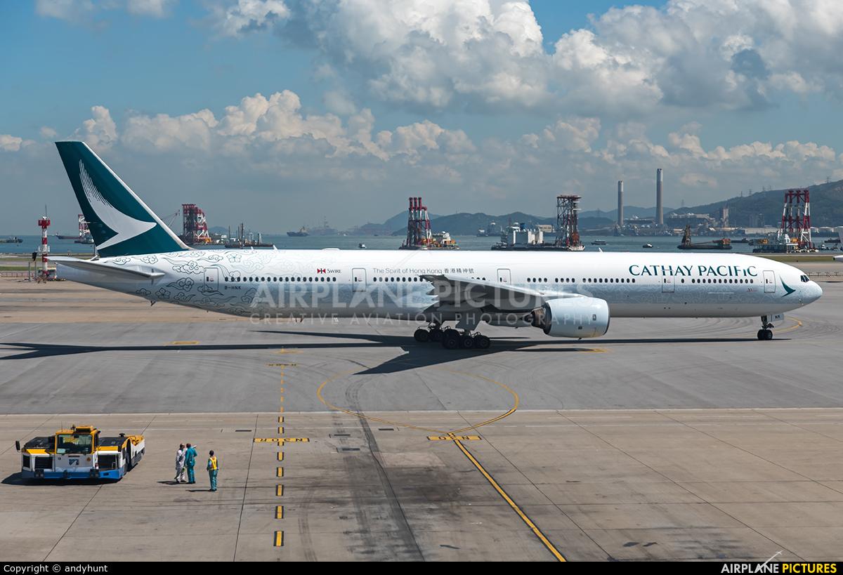 Cathay Pacific B-HNK aircraft at HKG - Chek Lap Kok Intl