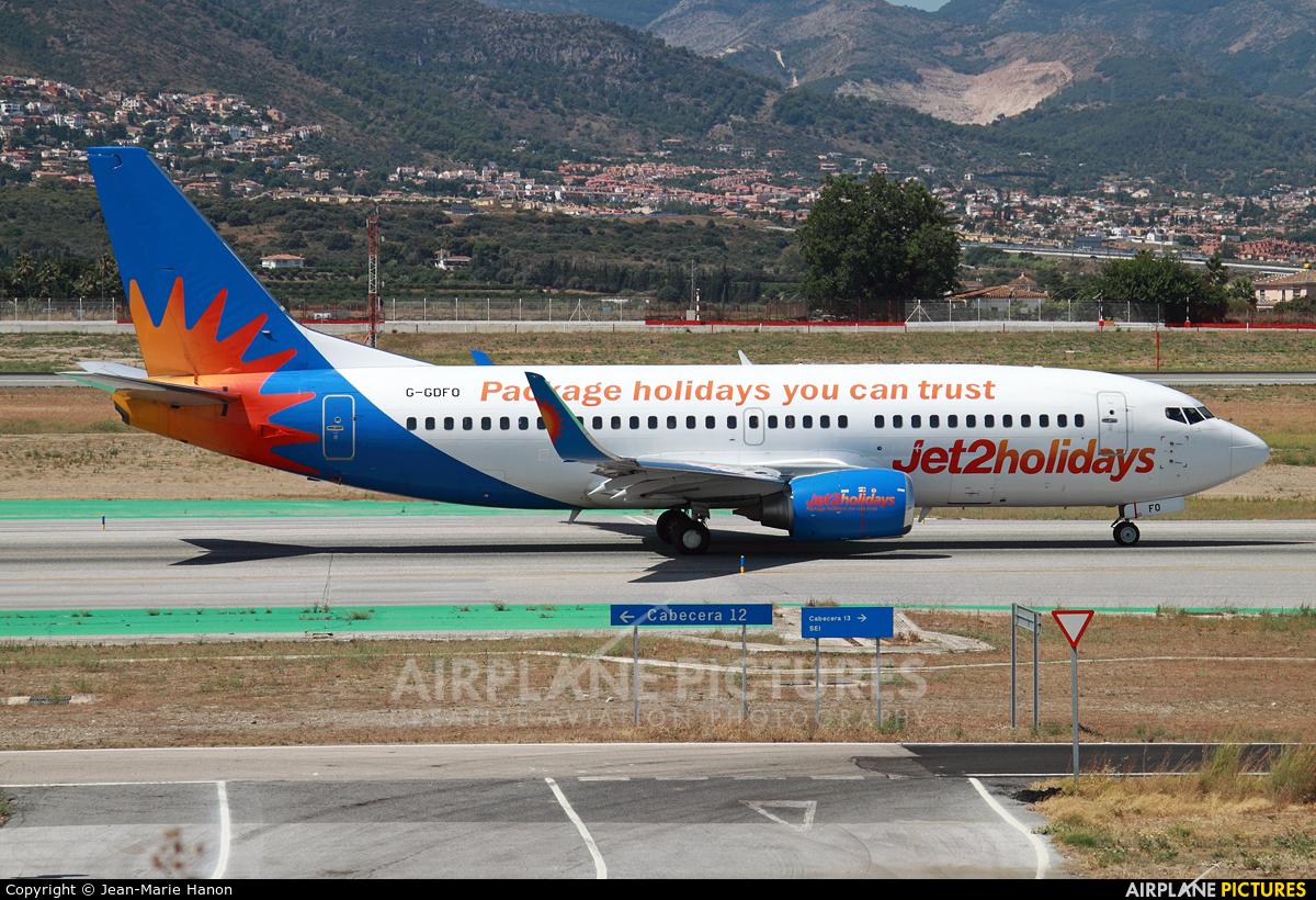 Jet2 G-GDFO aircraft at Málaga