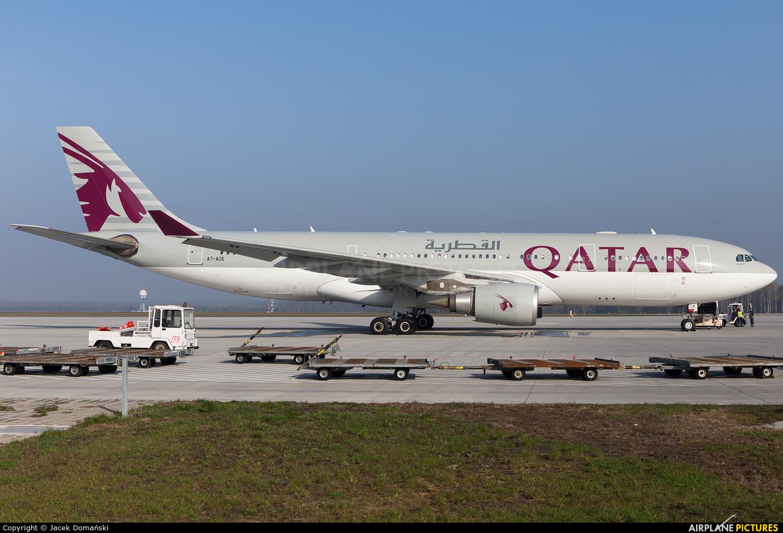 Qatar Airways A7-ACK aircraft at Katowice - Pyrzowice