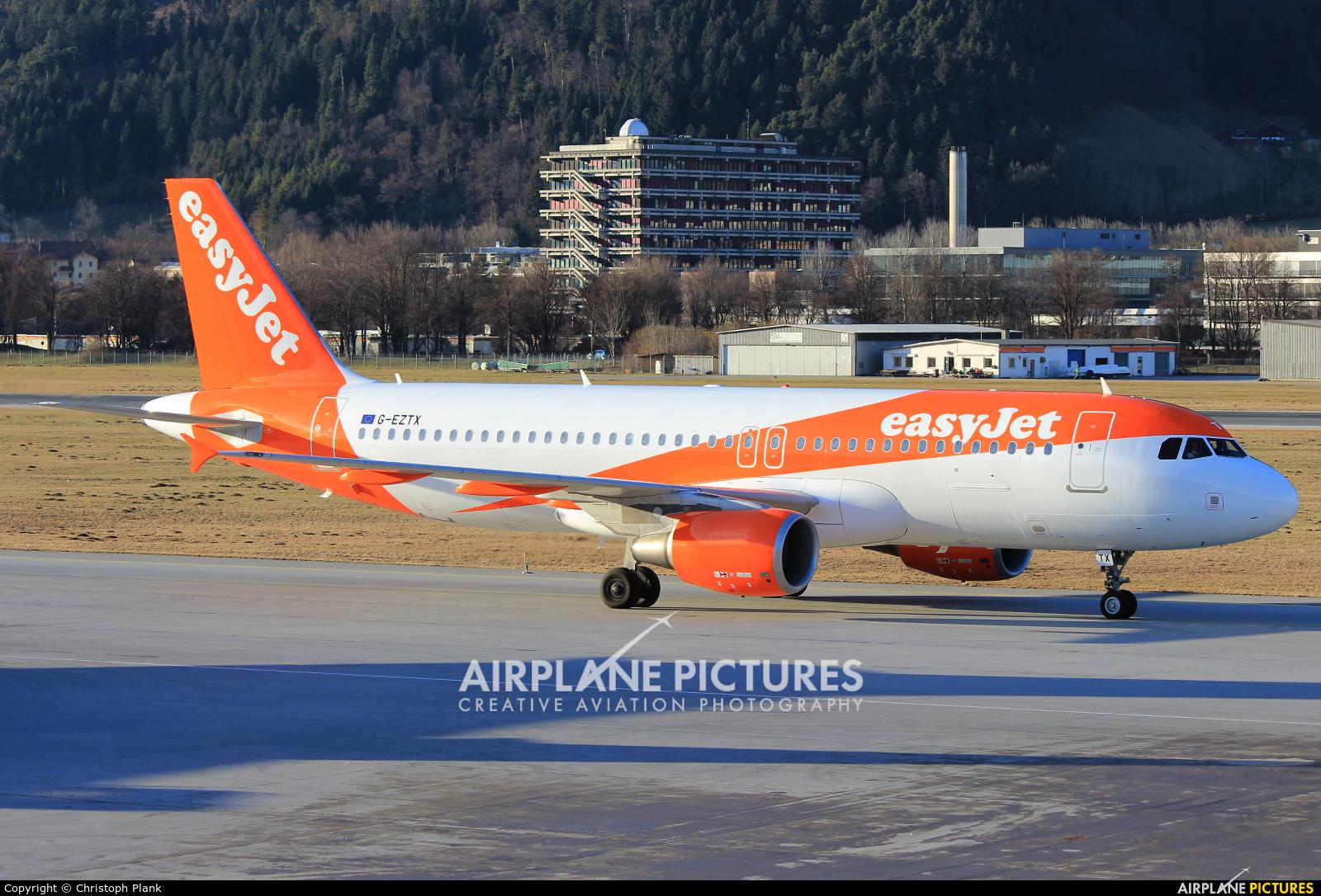 easyJet G-EZTX aircraft at Innsbruck