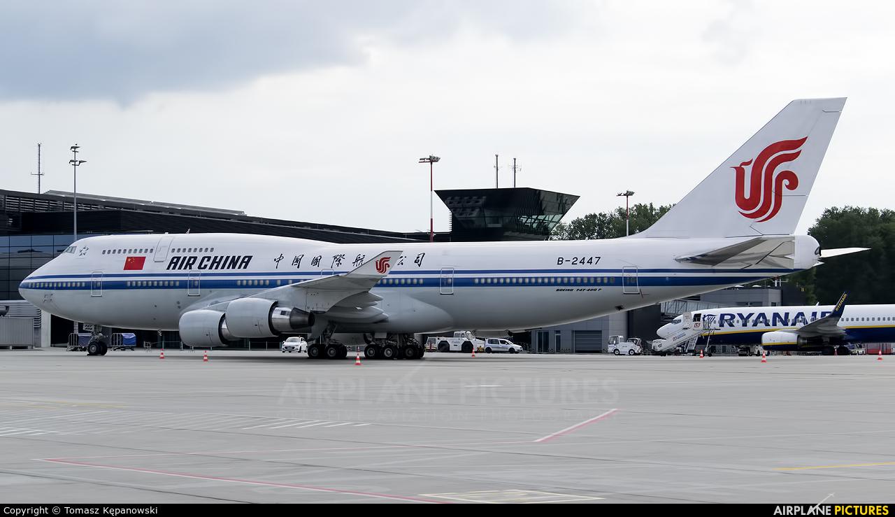 Air China B-2447 aircraft at Kraków - John Paul II Intl