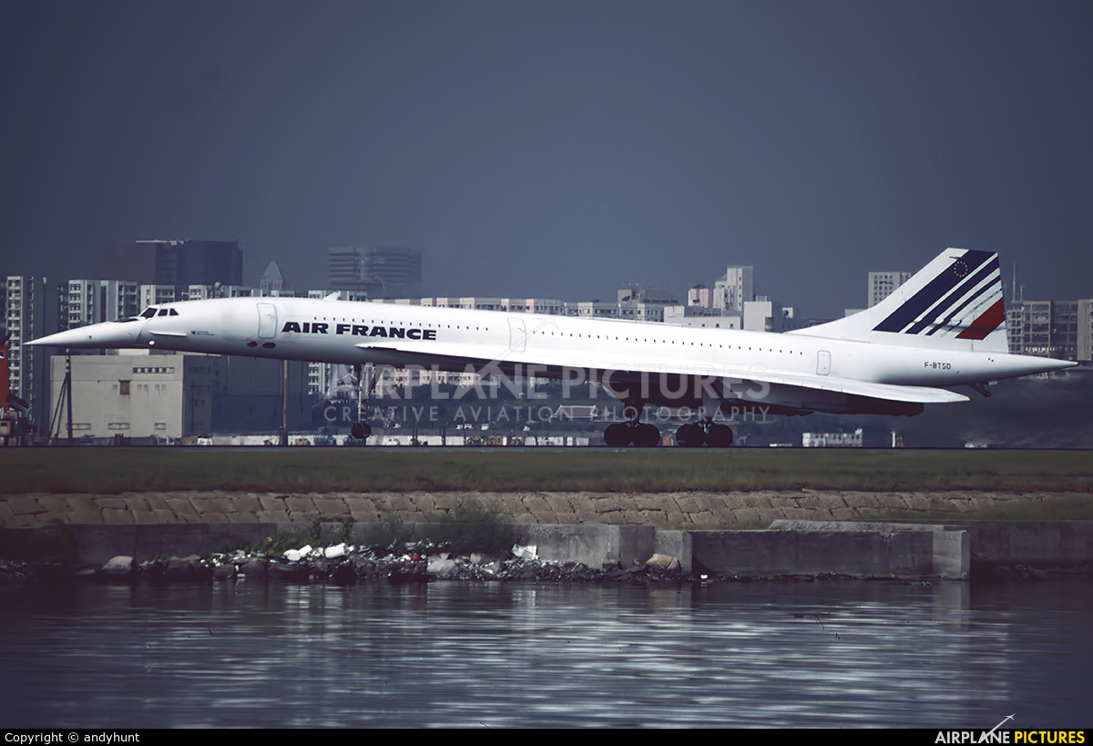 Air France F-BTSD aircraft at HKG - Kai Tak Intl CLOSED
