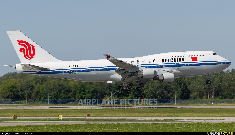 Air China B-2447 aircraft at Warsaw - Frederic Chopin