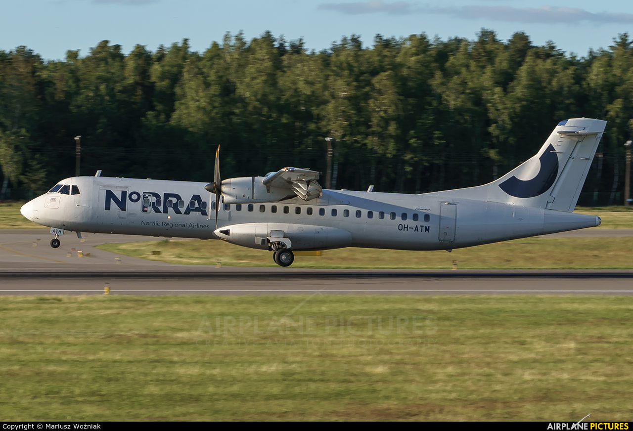 NoRRA - Nordic Regional Airlines OH-ATM aircraft at Gdańsk - Lech Wałęsa