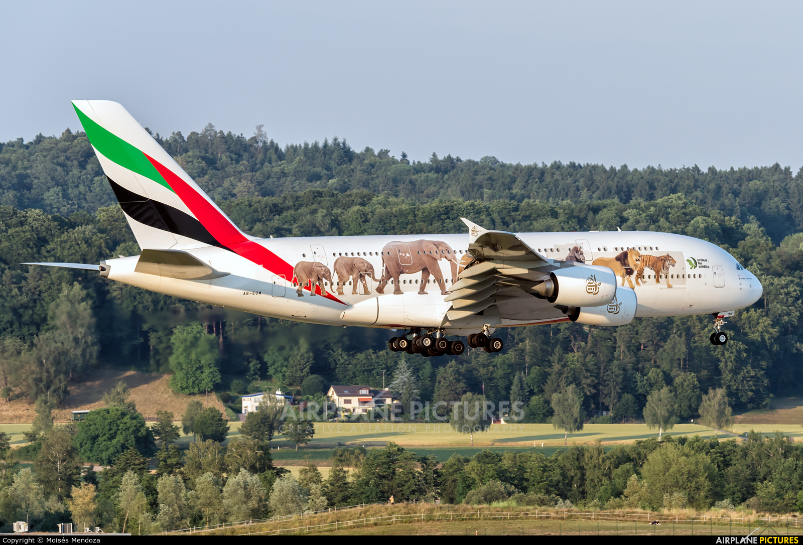 Emirates Airlines A6-EOM aircraft at Zurich