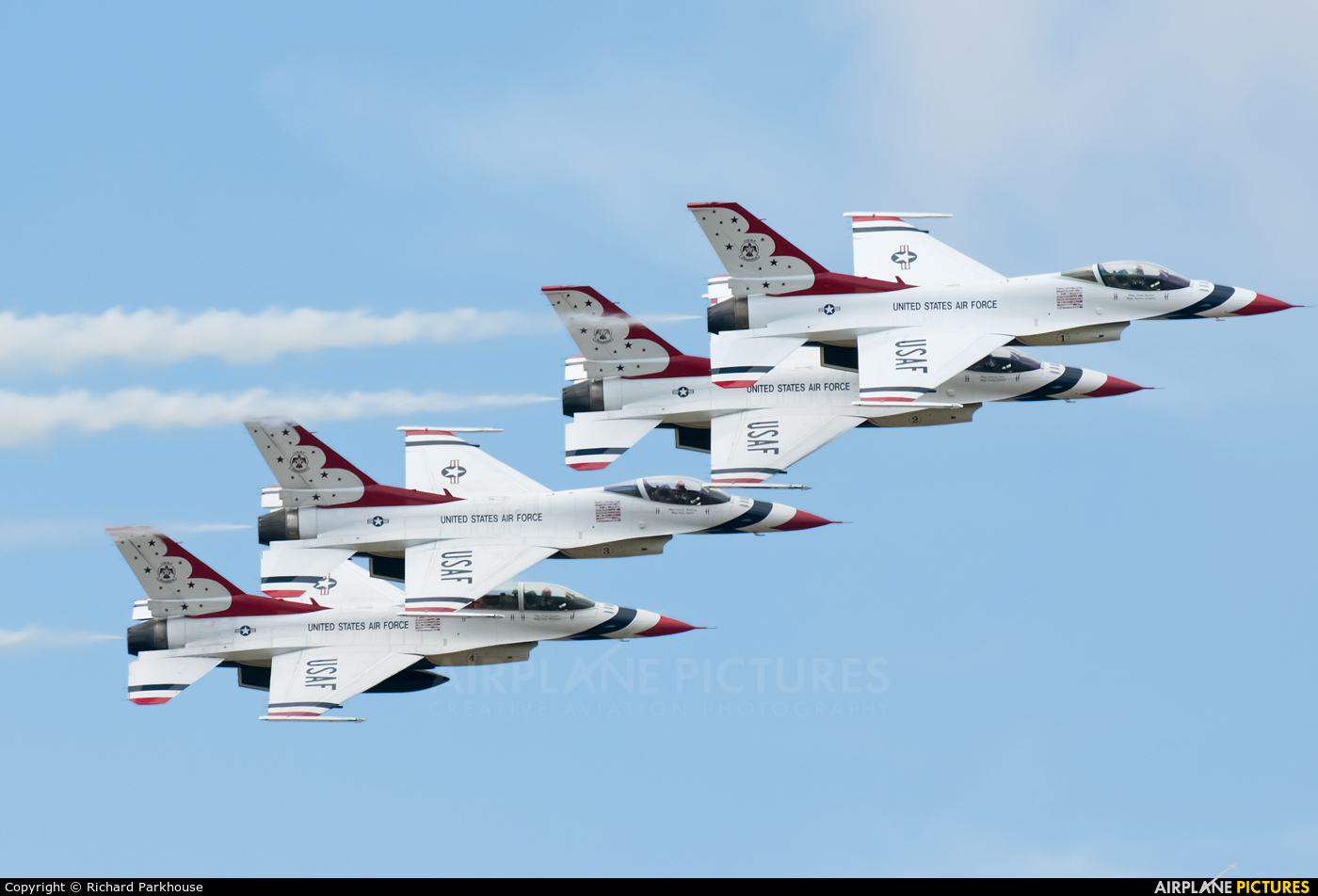 USA - Air Force : Thunderbirds - aircraft at Fairford
