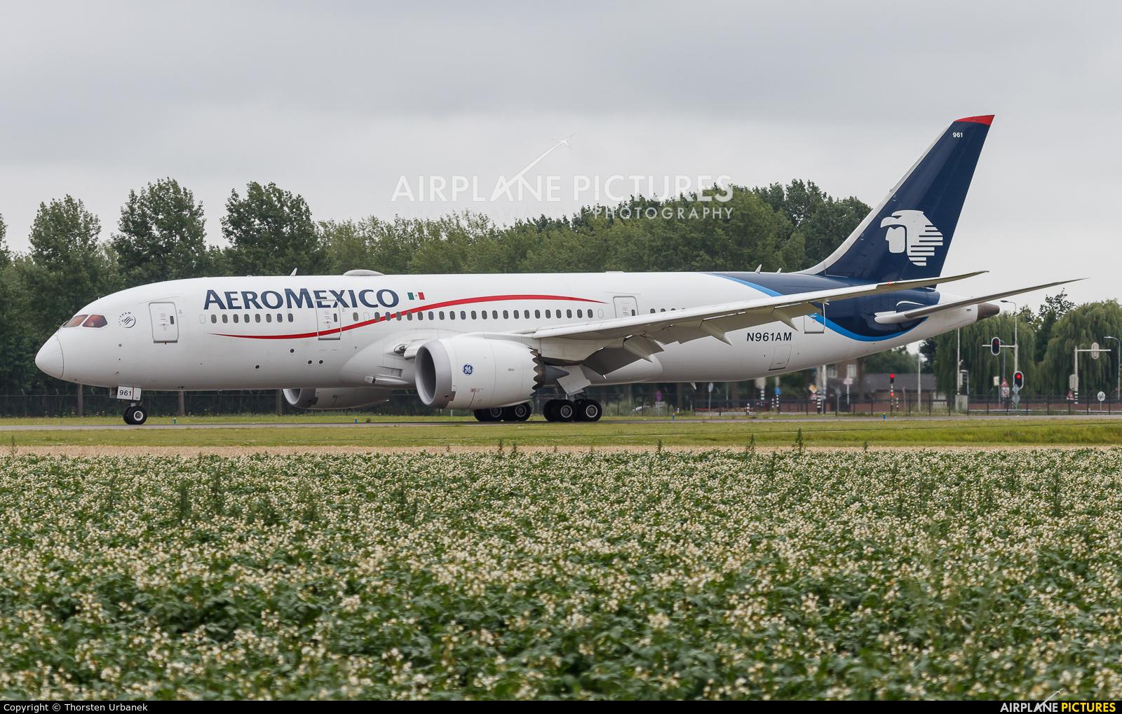 Aeromexico N961AM aircraft at Amsterdam - Schiphol