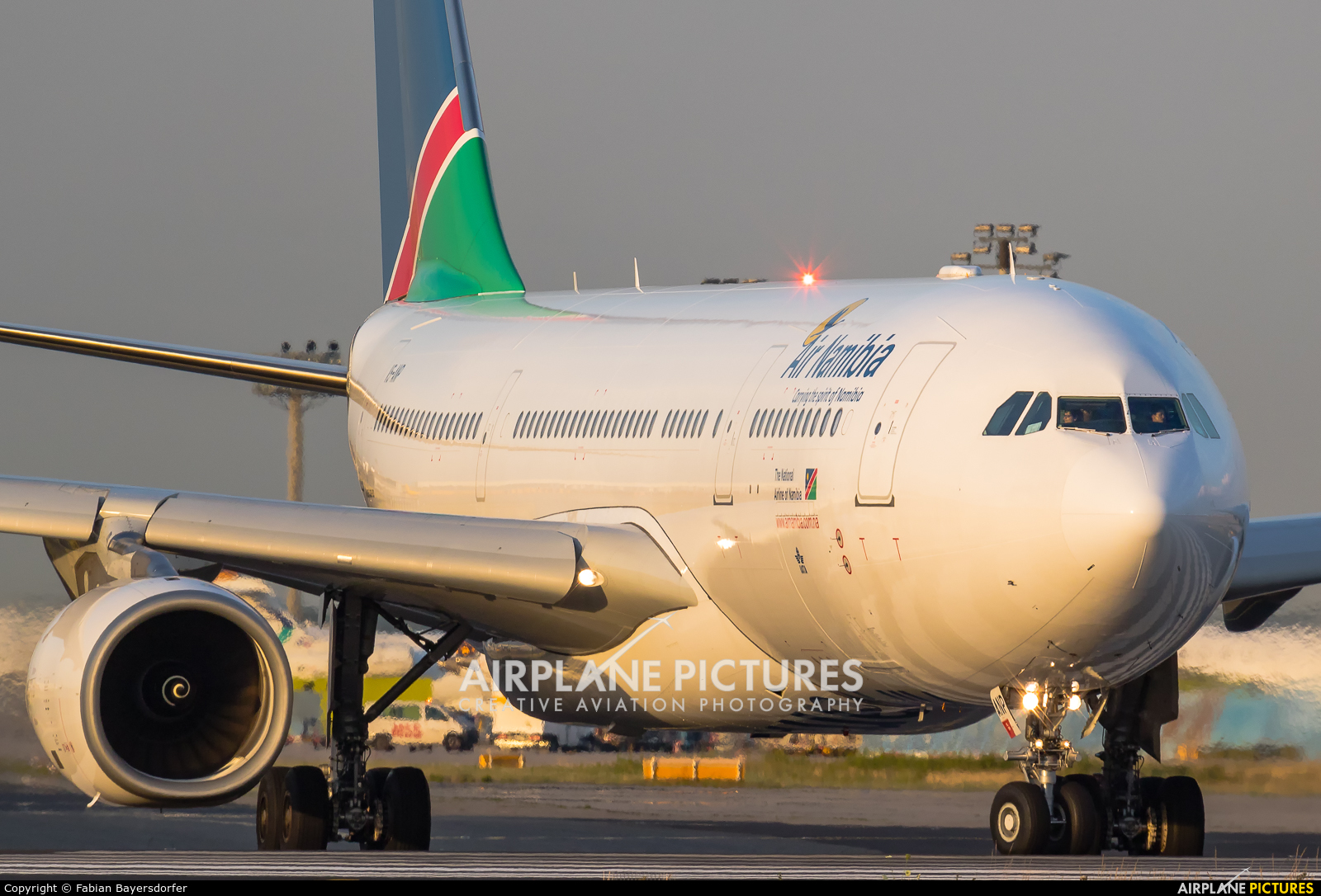 Air Namibia V5-ANP aircraft at Frankfurt