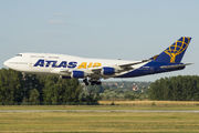 Rare visit of Atlas Air 744 to Budapest title=