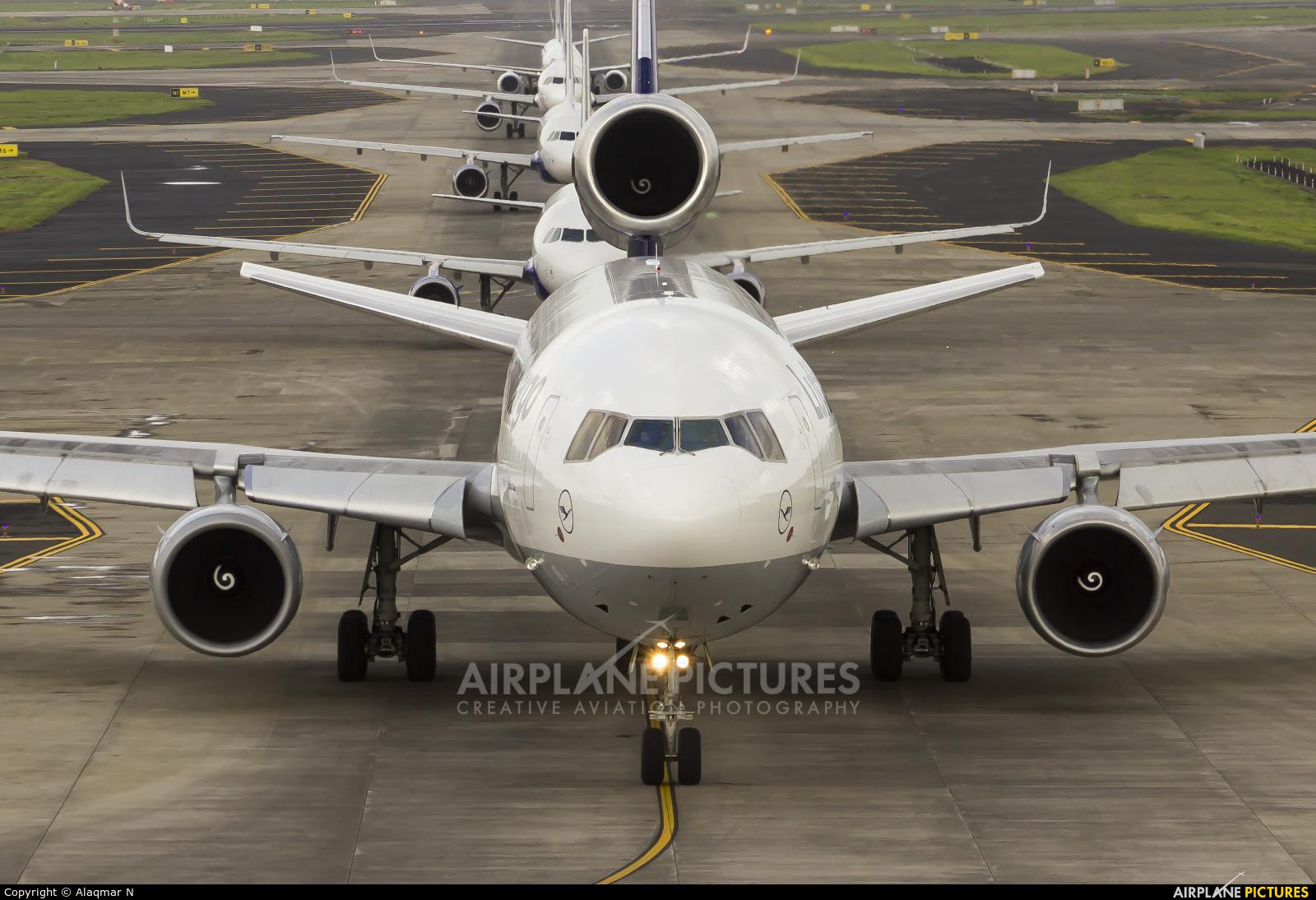 Lufthansa Cargo D-ALCN aircraft at Mumbai - Chhatrapati Shivaji Intl