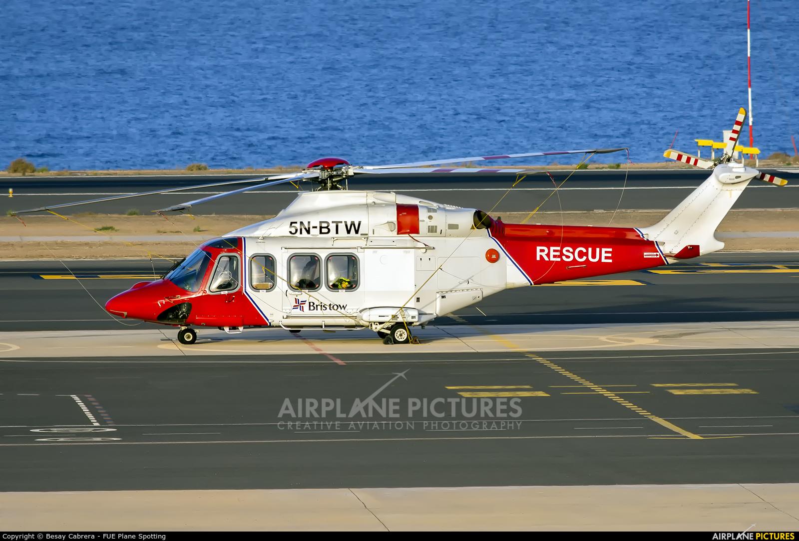 Bristow Helicopters 5N-BTW aircraft at Fuerteventura - Puerto del Rosario