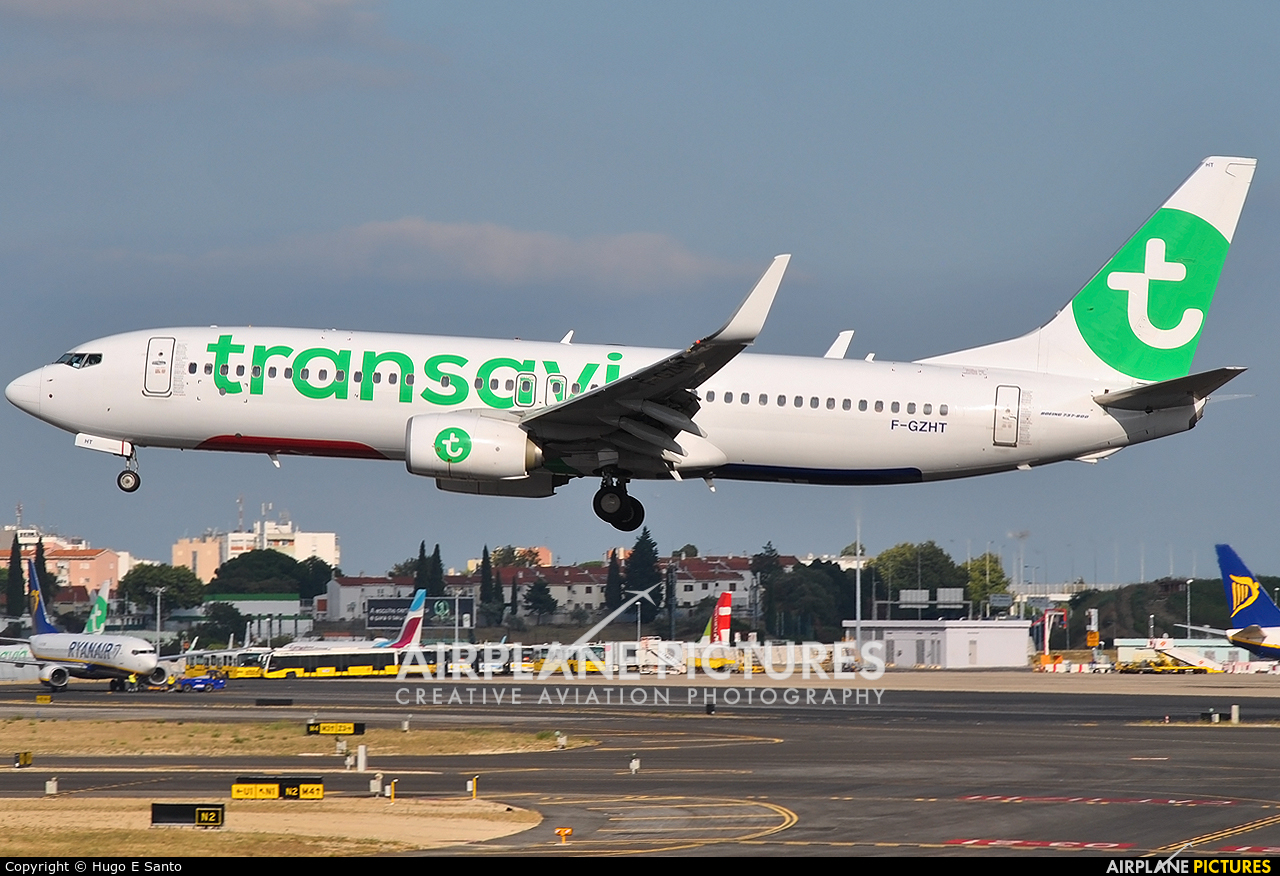 Transavia France F-GZHT aircraft at Lisbon