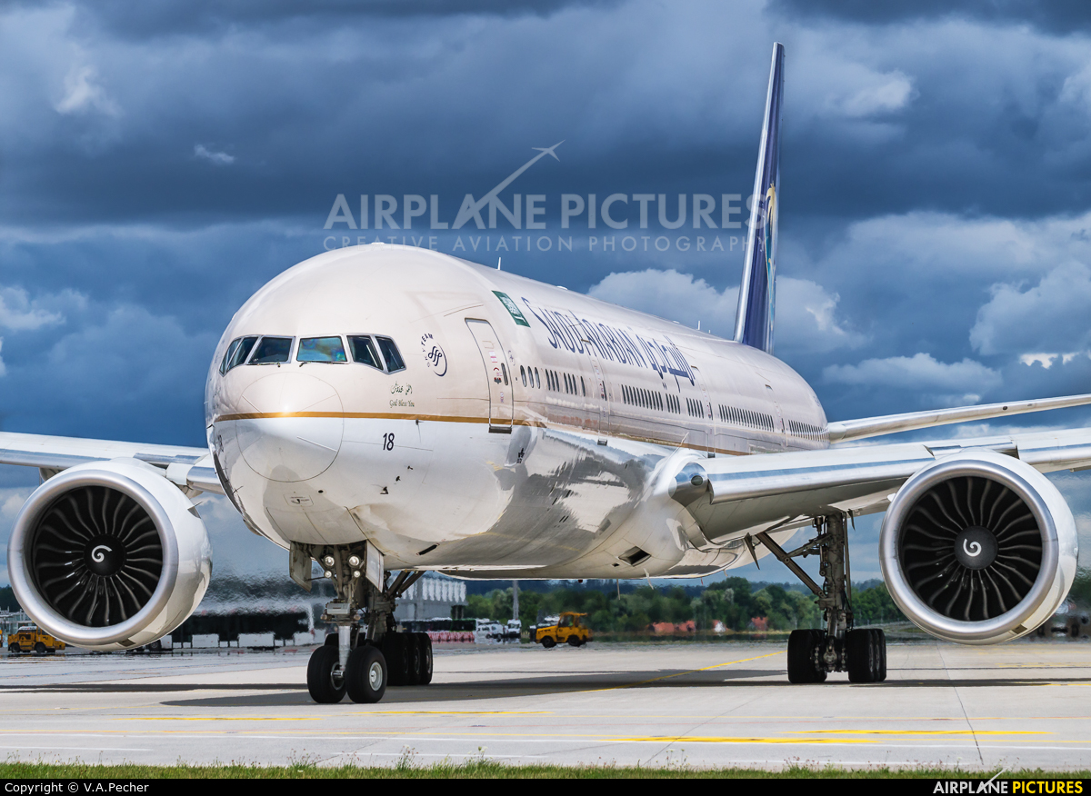 Saudi Arabian Airlines HZ-AK18 aircraft at Munich